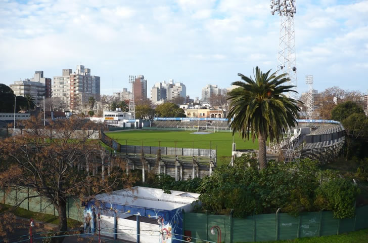 vista para o estadio defensor sportig da roda gigante